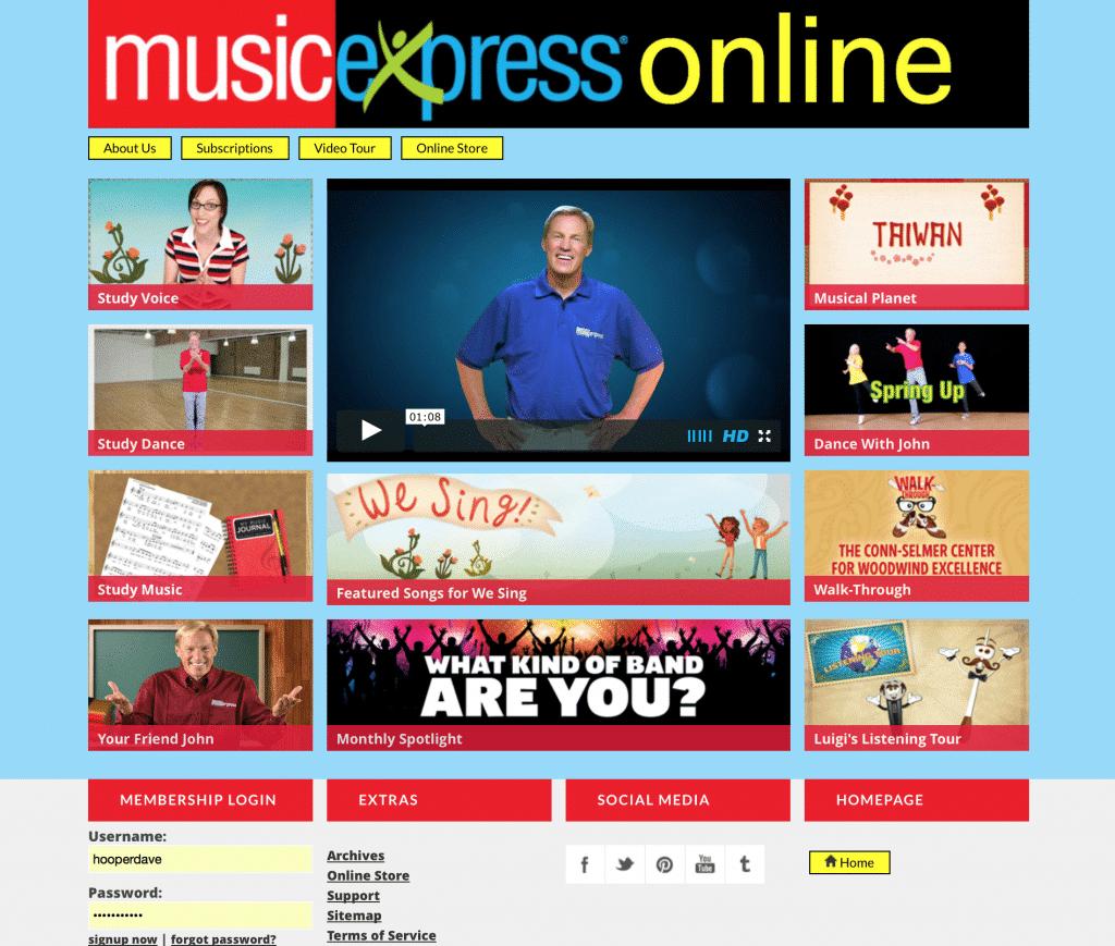 Music Express Online Screenshot