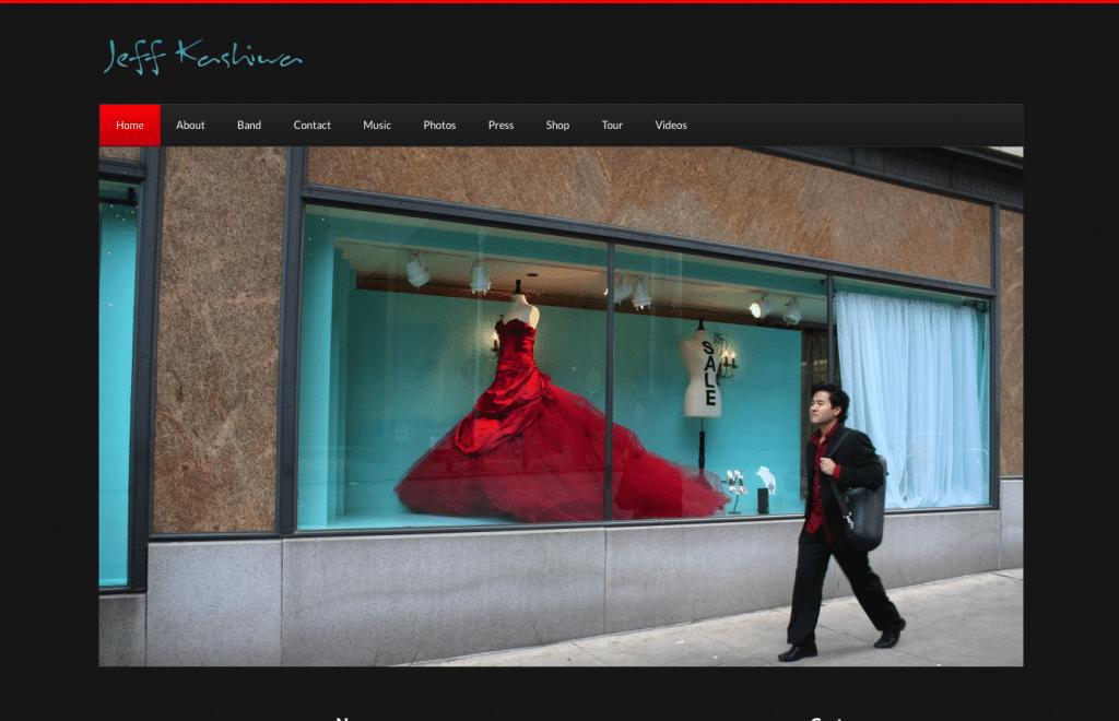 Jeff Kashiwa Website Screenshot