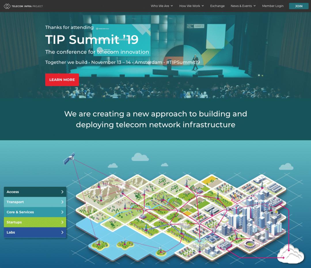 Telecom Infra Project Website Screenshot