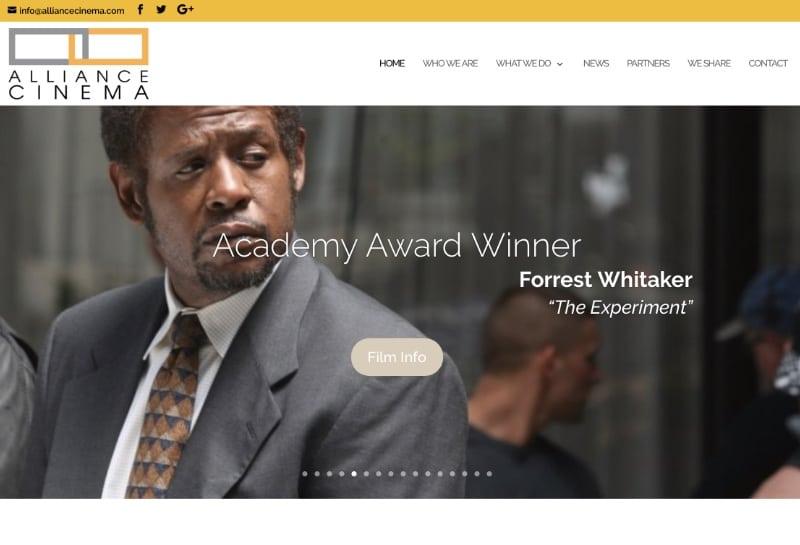 Alliance Cinema Website Screenshot
