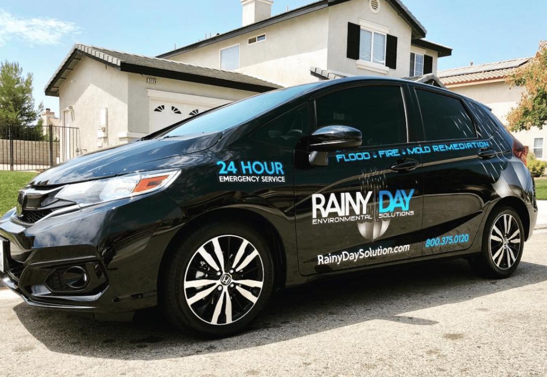 RAINY DAY CAR WRAP